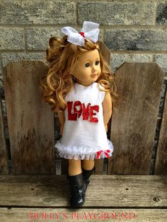 American Girl Valentines Dress