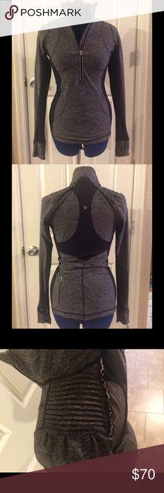🆕List LULULEMON 1/2 zip w/AMAZING shoulder detail LULULEMON 1/2 zip jacket w/AMAZING shoulder detail. Lightly worn. lululemon athletica Sweaters Cowl & Turtlenecks