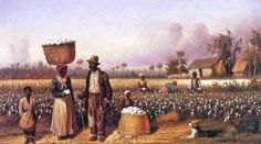 William Aiken Walker (American painter, 1839-1921) Negro Workers in Cotton Field with Dog