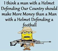 Completely agree...support our soldiers- those that defend and protect all of us, not just his teammate on the field