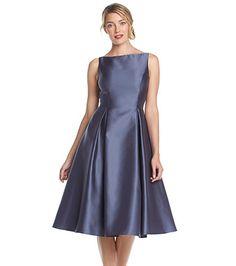 Adrianna Papell® Tea Length Fit And Flare Dress | Bon-Ton