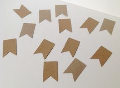 Card Shapes,Flags,Bunting,Tags,Blank KRAFT Card,Crafts,100pack