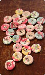 Liberty Print Buttons