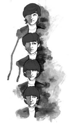 The Beatles by agiszszsz on DeviantArt Beatles Art, The Beatles, Rubber Soul Beatles, Photoshop 7, Roaches, Character Description, Drawing Tools, John Lennon, Attack On Titan