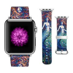 Apple Watch Bracelet Band, Apple Watch Bands, Mermaid, Iphone Cases, Watches, The Originals, Pattern, Leather, Gifts