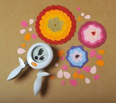 Stanzer - Stanzer mit Griffen ♥ Blütenblätter - ein Designerstück von Silber-Pappel bei DaWanda