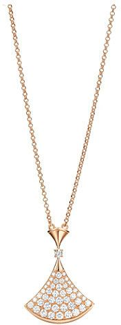 Bvlgari Diva 18ct pink-gold necklace with pavé diamonds on shopstyle.com