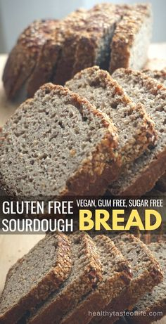 Homemade gluten free sourdough bread recipe made without xanthan gum. Learn how to make this healthy gluten free bread with whole grain gluten free flours and a brown rice based sourdough starter. Gluten Free Sourdough Bread, Keto Bread, Gluten Free Whole Grain Bread Recipe, Yeast Bread, Bread Oil, Whole Grain Sourdough Recipe, Gluten Free Homemade Bread, Gluten Free Dairy Free Bread Recipe, Bread Baking