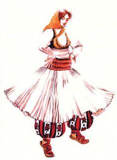 Women's traditional dress from Luma. (Northern Albania.)