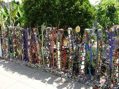 mosaik basteln ideen schön glanz gartenzaun