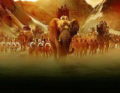 Otra pintura de los elefantes de Aníbal en los Alpes. Más en www.elgrancapitan.org/foro