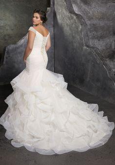 Plus Size Wedding Dresses: Julietta Collection | Morilee - Part 3 Plus Size Wedding Gowns, Wedding Dresses Photos, Bridal Wedding Dresses, Wedding Dress Styles, Designer Wedding Dresses, Tulle Wedding, Spring Wedding, Dress Picture, Perfect Wedding Dress