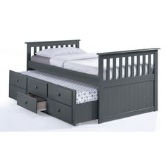Found it at Wayfair - Marco Island Captain's Bed with Trundle Bed and Drawers