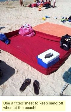 Oh crap that's brilliant. Fitted sheet at the beach
