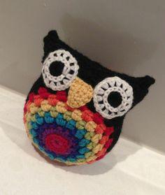 Reuben - Rainbow Belly Crochet Owl! I want!!!!!