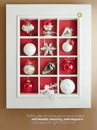"""I saw this in """"Celebrate with Sparkle"""" in Lowe's Creative Ideas November 2014."""