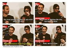 Daryl Dixon, Norman Reedus & Rick Grimes, Andrew Lincoln, The Walking Dead