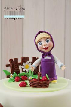 Máša a medveď - Masha and The Bear Masha And The Bear, Cake Art, Mini Cupcakes, Fondant, Elf, Cheesecake, Christmas Ornaments, Disney Princess, Holiday Decor