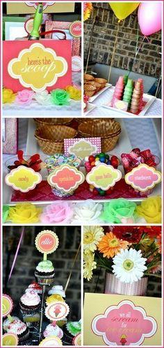 Ice cream birthday party party-ideas