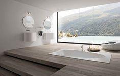 Beautiful modern bathroom design with White color.....   Visit : roohome.com  #bathroom #bathroomdesign #bathroomdecor #amazing #beautiful #modern #gorgeous #great #elegant #fabulous #interior #simple #design #decoration
