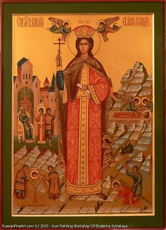 Saint Martyr Catherine - icon Religious Icons, Religious Art, St Catherine Of Alexandria, Saint Katherine, Religious Tolerance, I'm A Believer, Russian Icons, Painting Workshop, Orthodox Icons