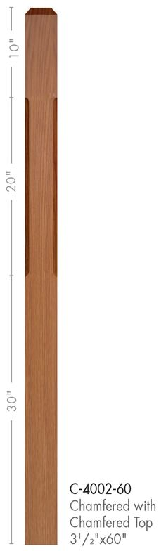 Cheap Stair Parts - 4002-60 Contemporary Style Chamfered Top Newel Post, $83.90 (http://cheapstairparts.com/4002-60-contemporary-style-chamfered-top-newel-post/)