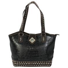 M&F Womens Floral Embossed Handbag