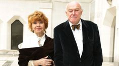 Prunella Scales and Timothy West arriving for the Theatre Awards