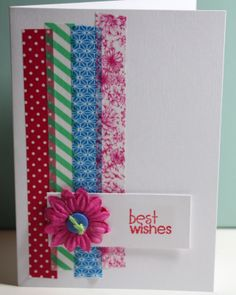 EASY quick washi tape card