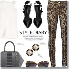 Animal Print by drigomes on Polyvore featuring polyvore, moda, style, Roberto Cavalli, Victoria Beckham, Yves Saint Laurent, Kristina George, Cartier, fashion and clothing
