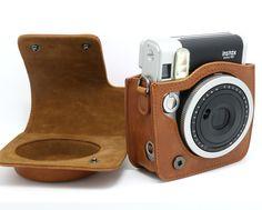 Amazon.com : NodArtisan Brown Vintga PU Leather fuji mini case for Fujifilm Instax Mini 90 Case bag : Camera Cases : Electronics