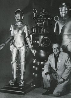 Mr. SciFi and friends.  (The Metropolis Robot, Robby the Robot, Gort, and Forry Ackerman)