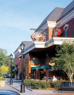 Ted's Montana Grill | The Avenue Forsyth, Peachtree City, Webb Gin and West Cobb Atlanta Restaurants, Peachtree City, Specialty Foods, Pedestrian, Montana, Prime Rib, Bison, Mansions, House Styles