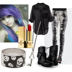 """Your Not Alone, We'll brave this storm- Carolyn, Black Veil Brides (One of my favorite songs)"" by unicornsloveme on Polyvore"
