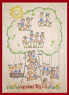 Family Tree - Would be cute for the kids to color. this is the best i am totaly using this for my project!