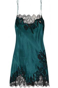 658c95d99 Carine Gilson Florence lace-trimmed silk-satin chemise