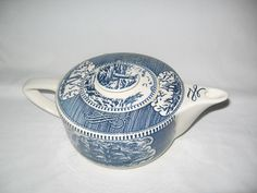 Royal Currier And Ives Teapot With Ship by TheBagLadyVintage