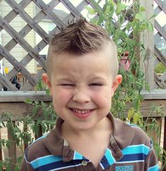 Awesome Kids Mohawk Hairstyle For Guys With Smile