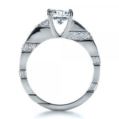 Custom Contemporary Diamond Engagement Ring #1218