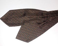 TINO COSMA ASCOT CRAVAT 100% Silk Brown/Green Color L50 W6 -A128   Clothing, Shoes & Accessories, Men's Accessories, Ties   eBay!