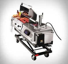 The Grill 'N Chill Tailgater is a professional-grade stainless steel grill that will surely impress you for it grills steaks and burgers using the same technology found in the world's finest steakhouses. Grill N Chill, Bbq Grill, Grilling, Infrared Grills, Stainless Steel Grill, Outdoor Cooking, Outdoor Kitchens, College Football, Football Tailgate
