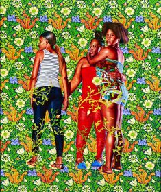 kehinde wiley | Kehinde Wiley, Naomi and her daughters , from series Jamaica , 2013 ...