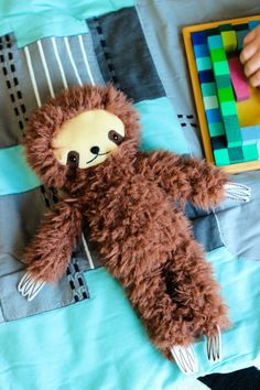 Your kids Summer Vacation Necessities definitely include this cuddly little sloth.