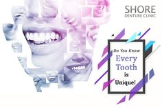 Neither in shape nor in size! Every individual has a separate set of teeth. Each tooth of yours is unique. And so is your The true mark of your individuality! Dental Implants, Your Smile, 20 Years, Did You Know, Separate, Clinic, Tooth, Shapes, Unique
