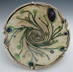 Carol Long Pottery...I love this bowl.....oooh art nouveau...you make great decoration on pottery.