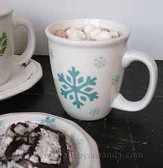 Make Your Own Holiday Tableware -- May have to make a few of these for Christmas gifts