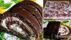 Kinder Pingui tekercs Toblerone, Meatloaf, Nutella, Tiramisu, Cake Decorating, Cherry, Food And Drink, Cooking Recipes, Baking