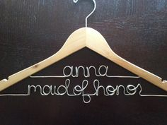 Personalized Hanger Bridesmaid Gift Maid of by HandcraftedAffairs, $32.00