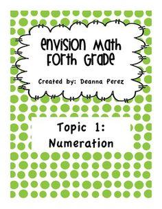4th Grade enVision Math - Topic 1