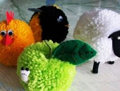 yarn crafts for kids - Yes please! I have so much scrap yarn laying around!